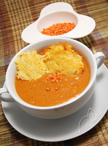 Copie de Crème de lentilles corail au curry