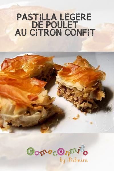 PASTILLA LÉGÈRE DE POULET AU CITRON CONFIT