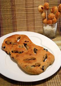 Copie de Fougasse jambon olives