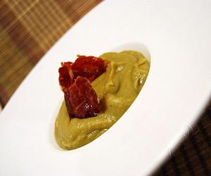 Copie de Purée petit pois chips de serrano (16)