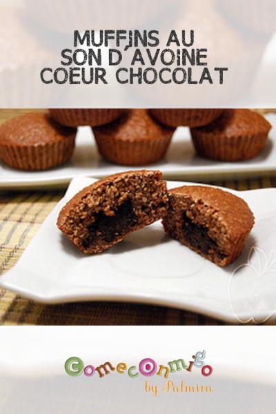 MUFFINS AU SON D'AVOINE, COEUR CHOCOLAT