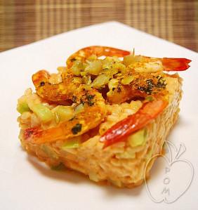 Crevettes au citron confit et son risotto de tête-copia-2