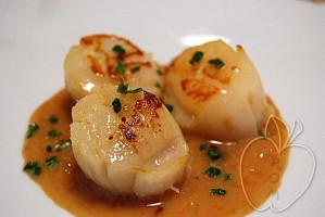 vieiras con salsa de sirope de arce (1)