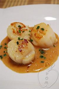 vieiras con salsa de sirope de arce (2)