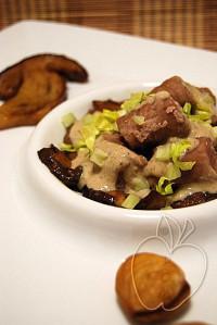 Gnocchis de castaña con su salsa de ceps (50)