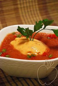Sorbete de tomate y queso fresco con su gazpacho ligero (9)