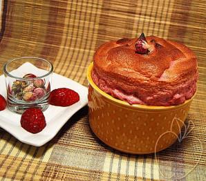 Soufflé de fresas y rosa (17)