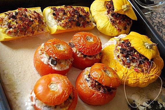 Verduras rellenas con dúo de jamón (20)