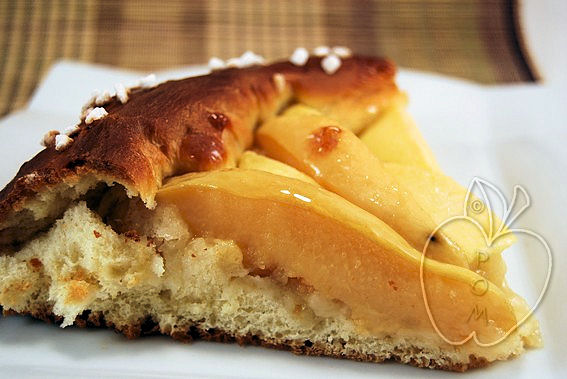 Tarta brioche de manzana y membrillo (15)