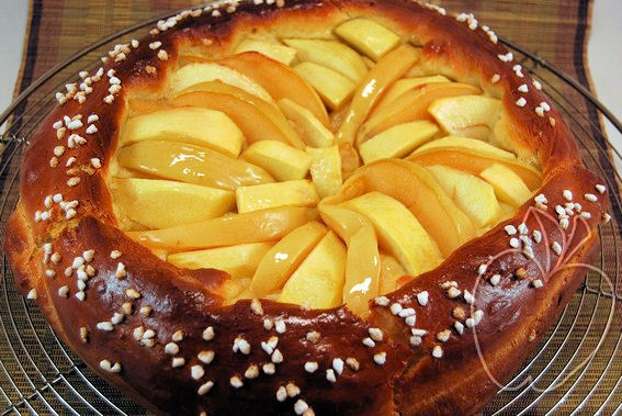 Tarta brioche de manzana y membrillo (4)