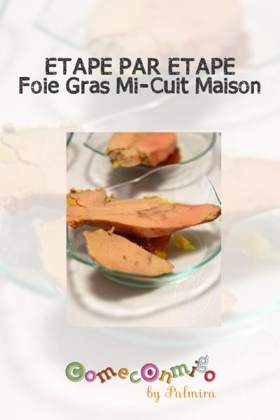 Etape par etape foie gras mi-cuit maison