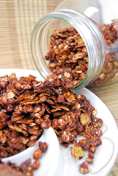 Granola chocolateado de nueces al chocolate (8)
