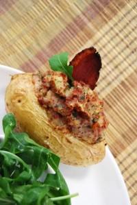 Barquitas de patata rellenas de jamón de pato (13)