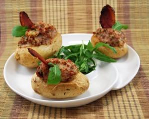 Barquitas de patata rellenas de jamón de pato (9)