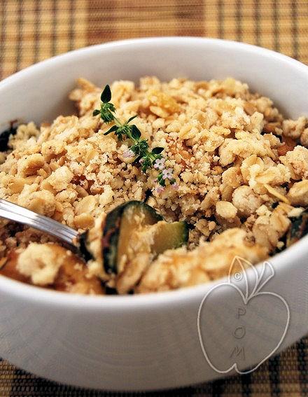 Crumble (salado) de pollo y calabacín (15)