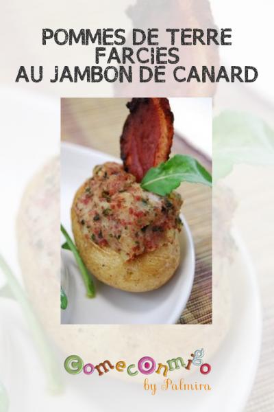 POMMES DE TERRE FARCIES AU JAMBON DE CANARD