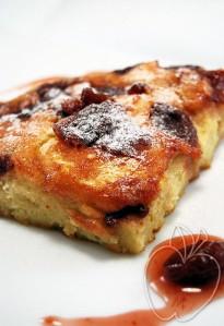 Tarta caramelizada de mermelada de cerezas (con sartén) (2