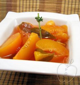 Sopa helada de melocotón y hierbabuena (3)