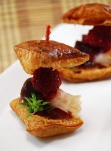 Croissants de jamón de pato y mermelada de frambuesa (11)