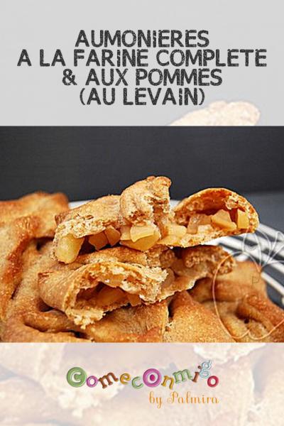 AUMONIÈRES À LA FARINE COMPLÈTE & AUX POMMES (AU LEVAIN)