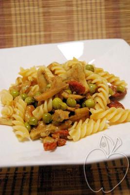 Alcachofas con chorizo y algo más (5)