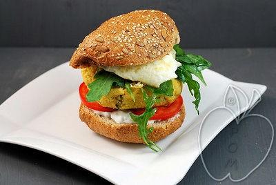 Bocata de hamburguesa vegetal (3)