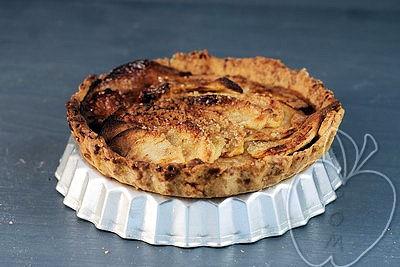 Tarta integral de manzana con compota de ciruelas -copia-1