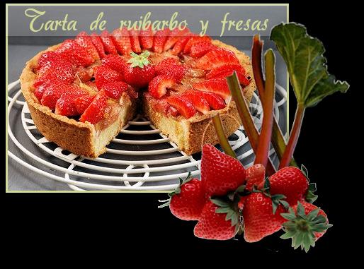 Tarte fraiserhubarbe