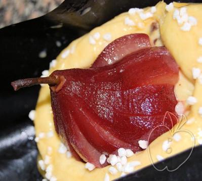 Tarta brioche de peras al vino tinto (13)