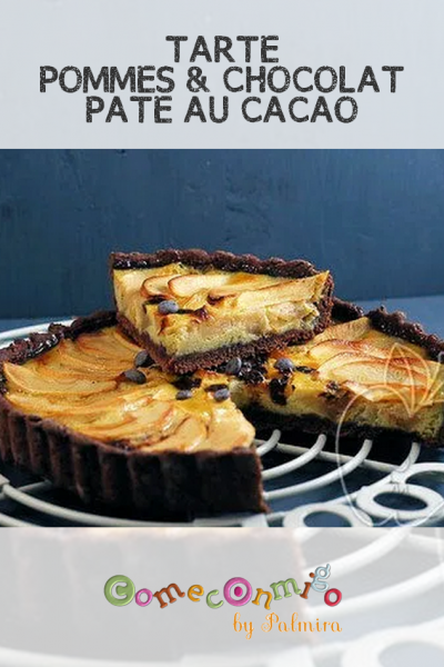 TARTE POMMES & CHOCOLAT, PÂTE AU CACAO