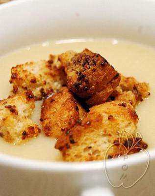 Crema de coliflor y mostaza (8)