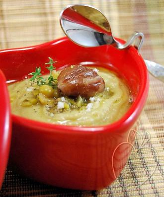 Crema de guisantes secos y castañas (7) - copia
