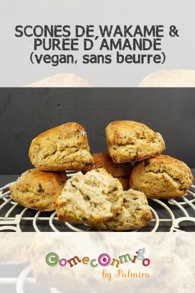 SCONES DE WAKAMÉ & PURÉE D'AMANDE (vegan, sans beurre)