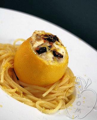 Limones rellenos de mozzarella y tomates secos (10)