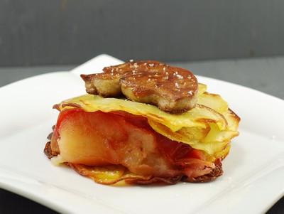 Tarta de manzana y foie con base de patata (4)