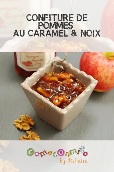 CONFITURE DE POMMES AU CARAMEL & NOIX