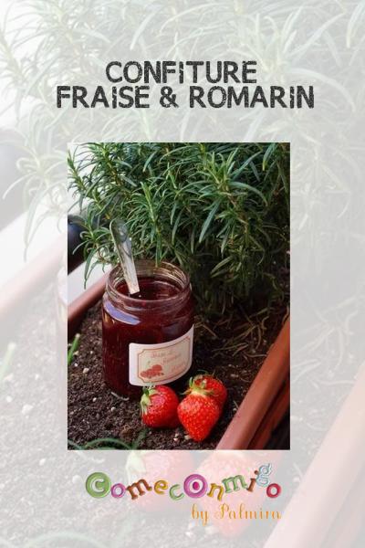 CONFITURE FRAISE & ROMARIN