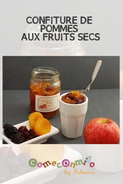 CONFITURE DE POMMES AUX FRUITS SECS