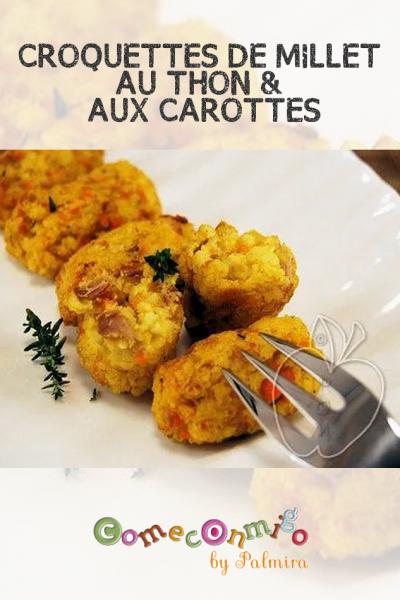 CROQUETTES DE MILLET AU THON & AUX CAROTTES
