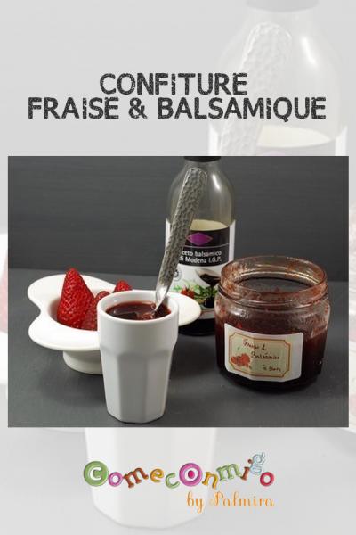 CONFITURE DE FRAISE AU VINAIGRE BALSAMIQUE