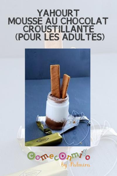 YAHOURT MOUSSE AU CHOCOLAT CROUSTILLANTE (POUR LES ADULTES)