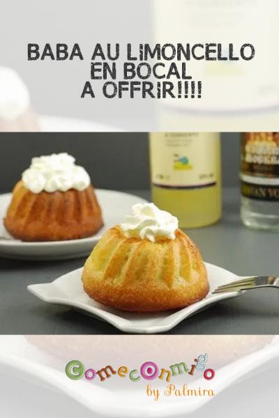BABA AU LIMONCELLO… EN BOCAL À OFFRIR!!!!