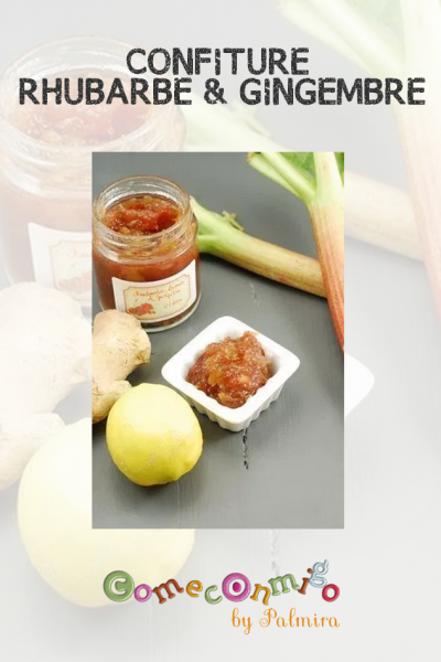 CONFITURE RHUBARBE & GINGEMBRE