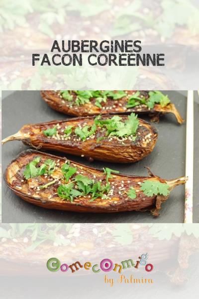 AUBERGINES FAÇON CORÉENNE
