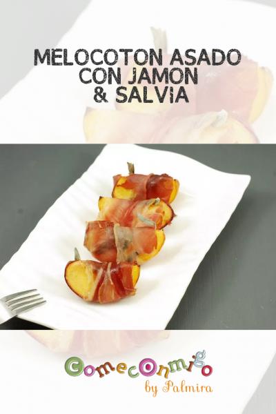 MELOCOTÓN ASADO CON JAMÓN & SALVIA