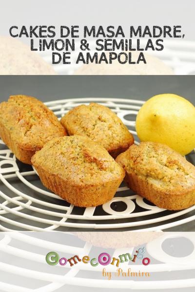 CAKES DE MASA MADRE, LIMÓN Y SEMILLAS DE AMAPOLA