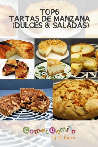 TOP6 TARTAS DE MANZANA (DULCES & SALADAS)