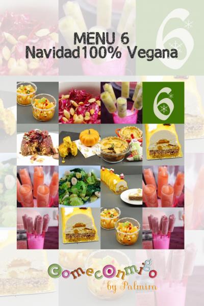 Menu 6 Navidad 100%Vegana