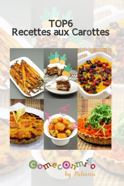top6 recettes aux carottes