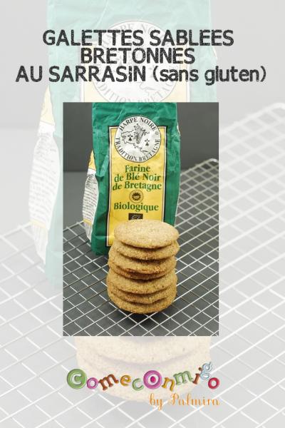 GALETTES SABLÉES BRETONNES AU SARRASIN (sans gluten)